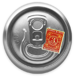 Soda Can Tax Stamp