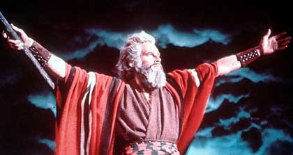 Charlton Heston Parts the Red Sea