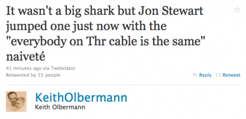 Olbermann on Stewart