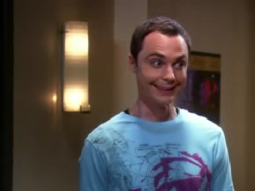 Sheldon Cooper Smiles