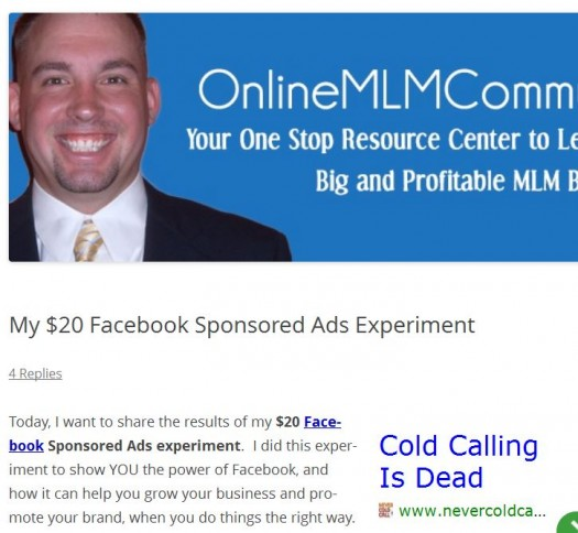 20 Dollar FB Ad Experiment