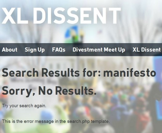 XL Dissent Null Search